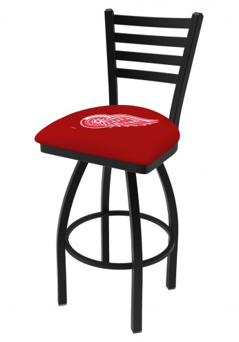 Detroit Red Wings Swivel Bar Stool with Ladder Style Back
