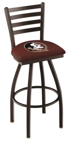 Florida State Seminoles Swivel Bar Stool with Ladder Style Back