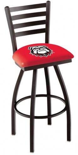 Georgia Bulldogs Swivel Bar Stool with Ladder Style Back