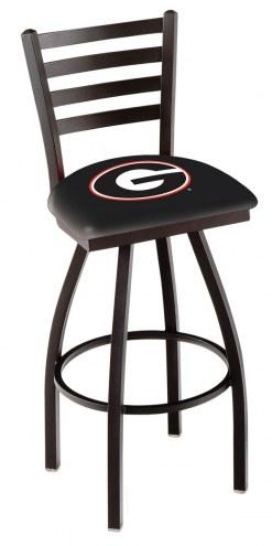 Georgia Bulldogs NCAA Swivel Bar Stool with Ladder Style Back