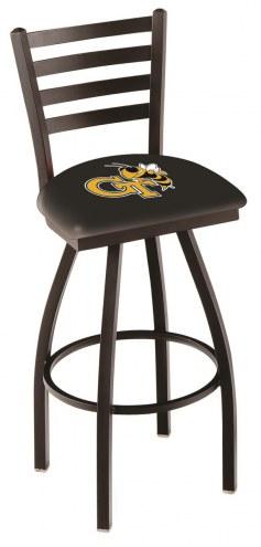 Georgia Tech Yellow Jackets Swivel Bar Stool with Ladder Style Back