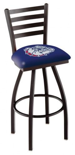 Gonzaga Bulldogs Swivel Bar Stool with Ladder Style Back