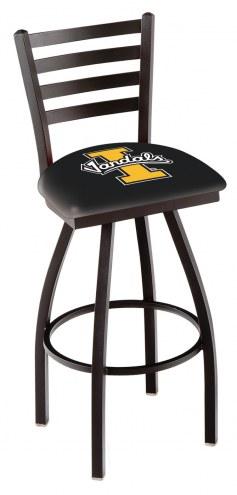 Idaho Vandals Swivel Bar Stool with Ladder Style Back
