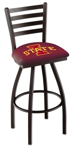 Iowa State Cyclones Swivel Bar Stool with Ladder Style Back