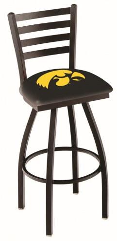 Iowa Hawkeyes Swivel Bar Stool with Ladder Style Back