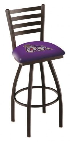 James Madison Dukes Swivel Bar Stool with Ladder Style Back