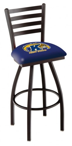 Kent State Golden Flashes Swivel Bar Stool with Ladder Style Back
