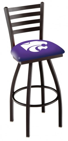 Kansas State Wildcats Swivel Bar Stool with Ladder Style Back