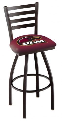 Louisiana-Monroe Warhawks Swivel Bar Stool with Ladder Style Back