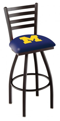 Michigan Wolverines Swivel Bar Stool with Ladder Style Back