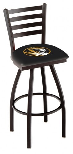 Missouri Tigers Swivel Bar Stool with Ladder Style Back