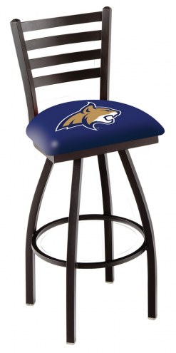 Montana State Bobcats Swivel Bar Stool with Ladder Style Back