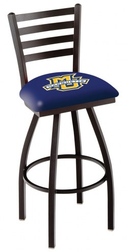 Marquette Golden Eagles Swivel Bar Stool with Ladder Style Back