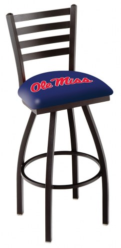 Mississippi Rebels Swivel Bar Stool with Ladder Style Back