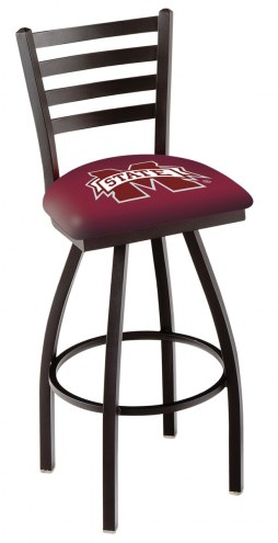 Mississippi State Bulldogs Swivel Bar Stool with Ladder Style Back