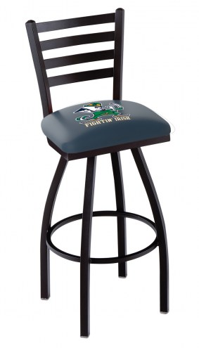 Notre Dame Fighting Irish Swivel Bar Stool with Ladder Style Back