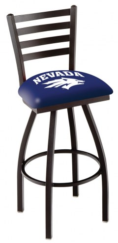 Nevada Wolf Pack Swivel Bar Stool with Ladder Style Back