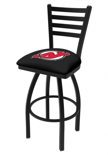 New Jersey Devils Swivel Bar Stool with Ladder Style Back
