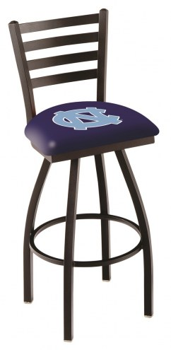 North Carolina Tar Heels Swivel Bar Stool with Ladder Style Back