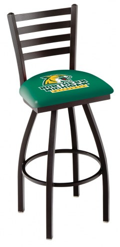 Northern Michigan Wildcats Swivel Bar Stool with Ladder Style Back