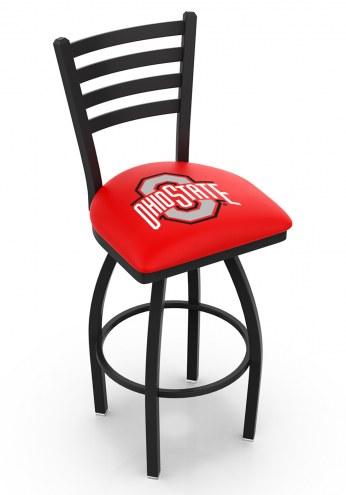 Ohio State Buckeyes Swivel Bar Stool with Ladder Style Back