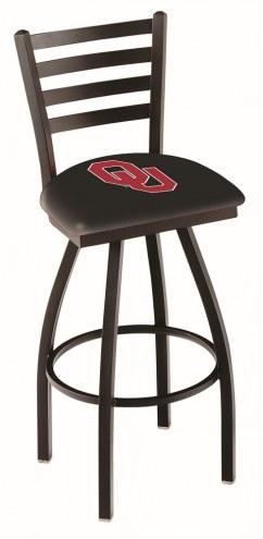 Oklahoma Sooners Swivel Bar Stool with Ladder Style Back