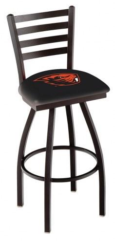 Oregon State Beavers Swivel Bar Stool with Ladder Style Back