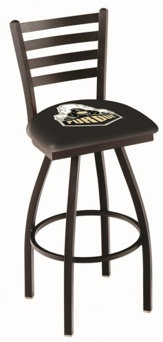 Purdue Boilermakers Swivel Bar Stool with Ladder Style Back