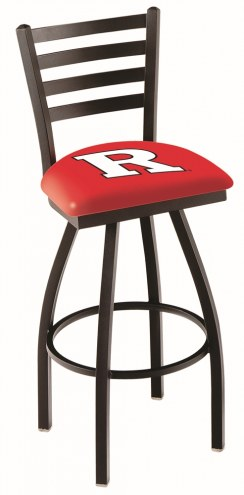 Rutgers Scarlet Knights Swivel Bar Stool with Ladder Style Back