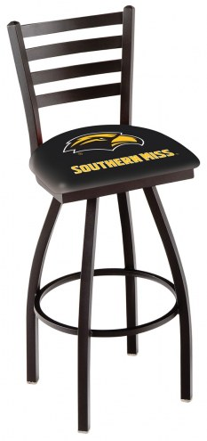 Southern Mississippi Golden Eagles Swivel Bar Stool with Ladder Style Back