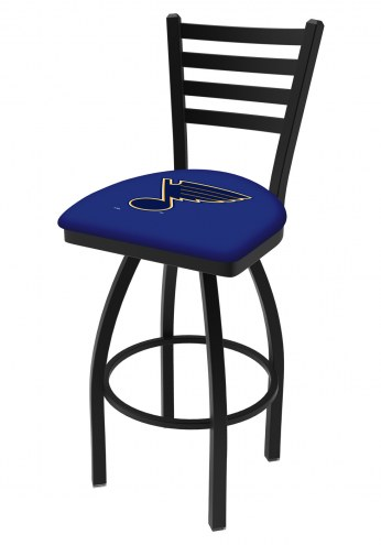 St. Louis Blues Swivel Bar Stool with Ladder Style Back