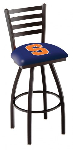 Syracuse Orange Swivel Bar Stool with Ladder Style Back