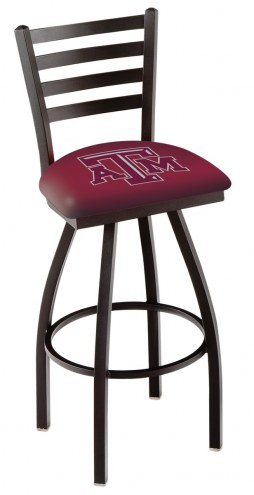 Texas A&M Aggies Swivel Bar Stool with Ladder Style Back
