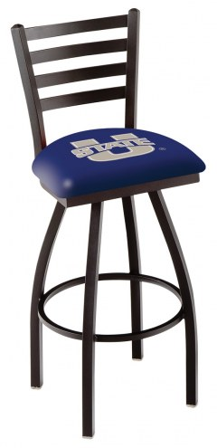 Utah State Aggies Swivel Bar Stool with Ladder Style Back