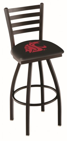 Washington State Cougars Swivel Bar Stool with Ladder Style Back