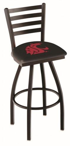Washington State Cougars Swivel Bar Stool with Ladder Style Back