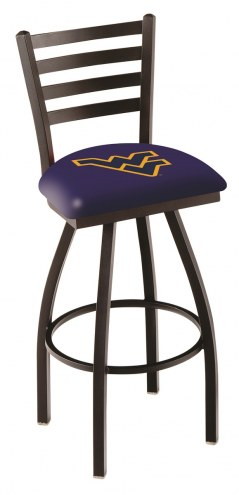 West Virginia Mountaineers Swivel Bar Stool with Ladder Style Back