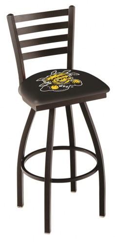 Wichita State Shockers Swivel Bar Stool with Ladder Style Back