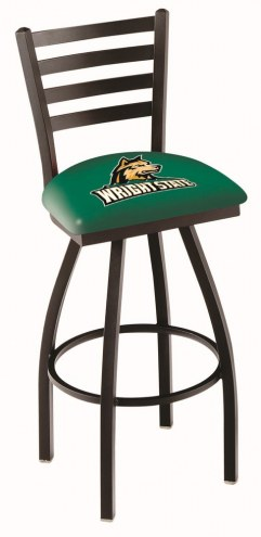 Wright State Raiders Swivel Bar Stool with Ladder Style Back