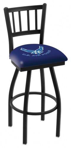 Air Force Falcons Swivel Bar Stool with Jailhouse Style Back