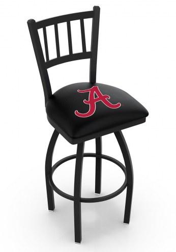 "Alabama Crimson Tide ""A"" Swivel Bar Stool with Jailhouse Style Back"