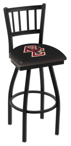 Boston College Eagles Swivel Bar Stool with Jailhouse Style Back