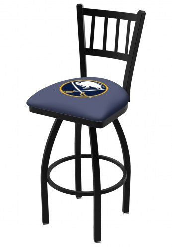 Buffalo Sabres Swivel Bar Stool with Jailhouse Style Back