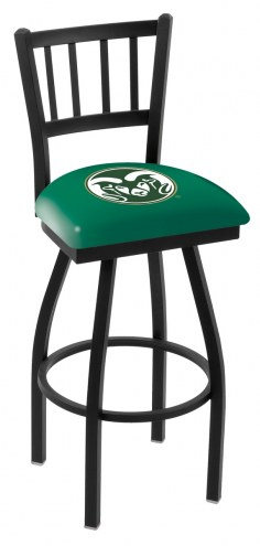 Colorado State Rams Swivel Bar Stool with Jailhouse Style Back