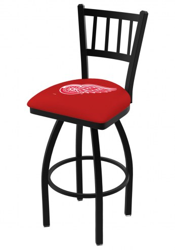 Detroit Red Wings Swivel Bar Stool with Jailhouse Style Back