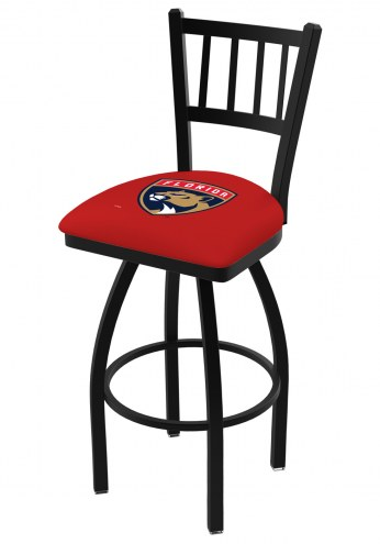 Florida Panthers Swivel Bar Stool with Jailhouse Style Back