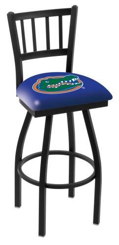 Florida Gators Swivel Bar Stool with Jailhouse Style Back