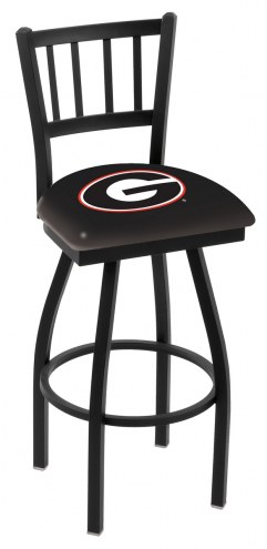 Georgia Bulldogs Swivel Bar Stool with Jailhouse Style Back