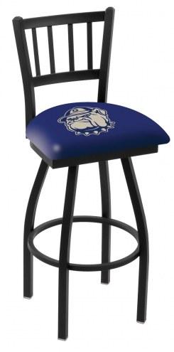 Georgetown Hoyas Swivel Bar Stool with Jailhouse Style Back