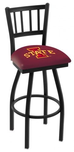 Iowa State Cyclones Swivel Bar Stool with Jailhouse Style Back